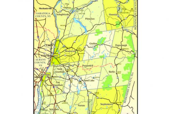 Rensselaer County Map
