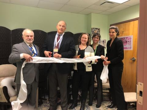 Pictured left to right: Charles Welge (Albany County Department of Health), David Shippee (Whitney Young Health), Suzanne Swan (Albany County Department of Health), Katie Palmer (Whitney Young Health), and Kristen Lynch (St. Peter's Health Partners).