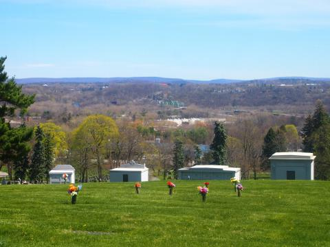 Spring view from St. Agnes Cemetery