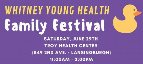 Whitney Young Health to Host Family Festival & Duck Dash in Troy