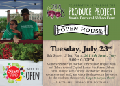 Stop by the farm on Tuesday July 23rd from 4pm-6pm. and celebrate 10 years of the Produce Project