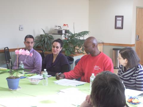 Emerging Investors Network members meet for the first time at the Community Loan Fund.