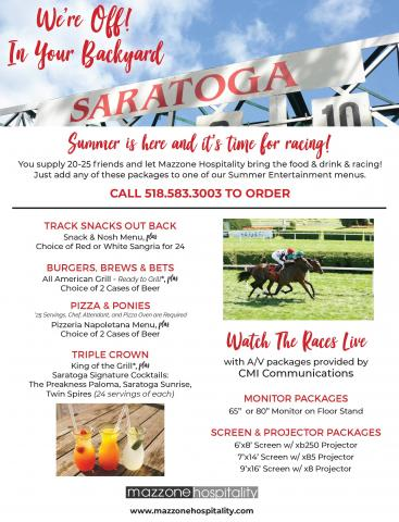 Saratoga Racecourse in Your Backyard packages